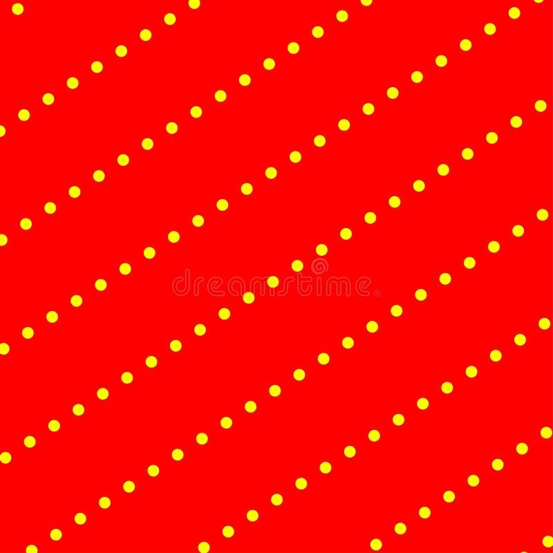 Ambiti di provenienza gialli rossi delle carte di ripetizione dei punti illustrazione di stock