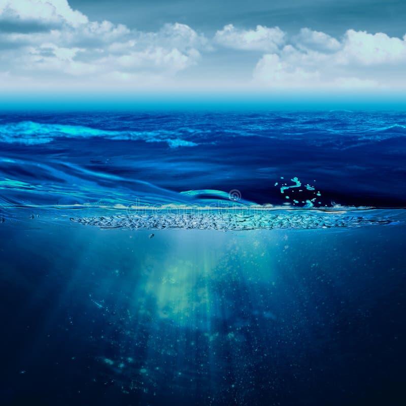 Ambiti di provenienza marini astratti fotografia stock