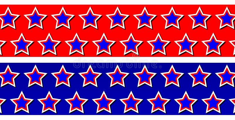 Ambiti di provenienza patriottici della stella royalty illustrazione gratis