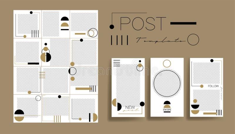 Ambiti di provenienza di progettazione per l'insegna sociale di media Metta dei modelli della struttura della posta del instagram royalty illustrazione gratis