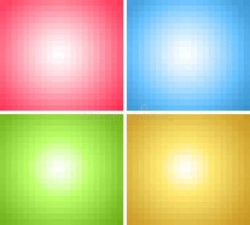 Ambiti di provenienza quadrati dei pixel royalty illustrazione gratis
