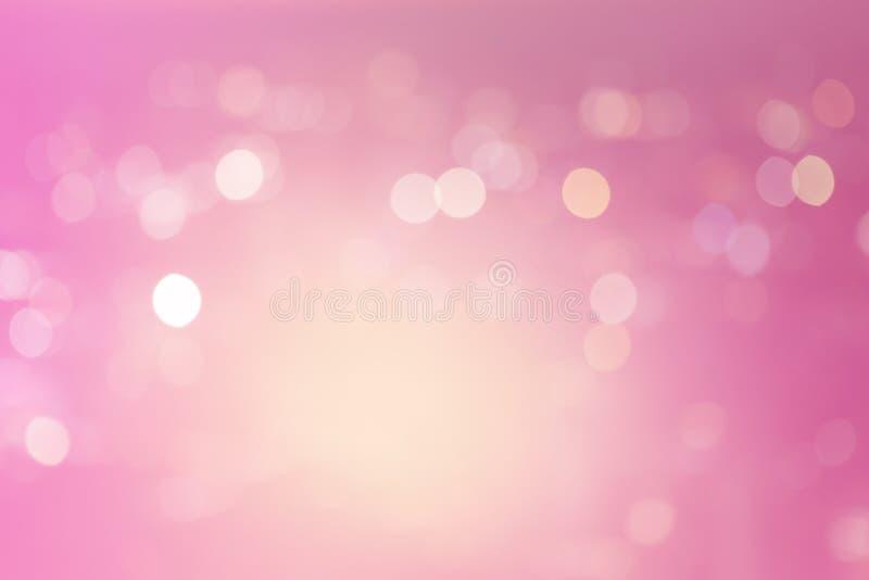 Ambiti di provenienza rosa della luce dell'estratto del bokeh fotografie stock libere da diritti