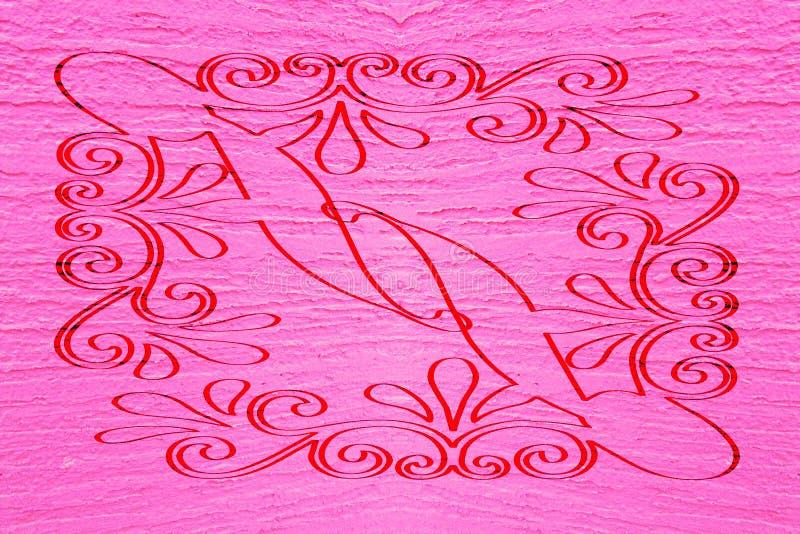 Ambiti di provenienza rosso magenta astratti illustrazione vettoriale