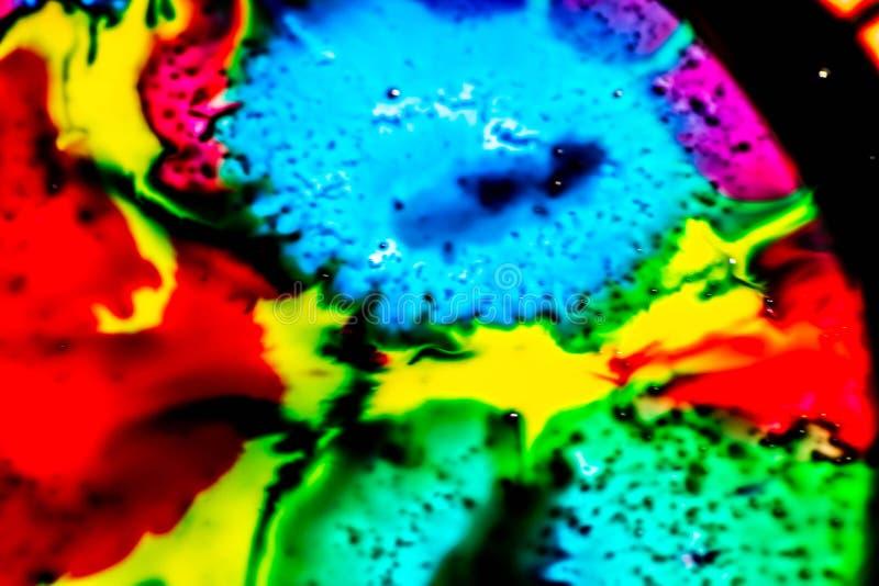 Ambiti di provenienza variopinti con i colori primari che si mescolano insieme colori luminosi e forte contrasto fra loro Fondo v immagine stock libera da diritti