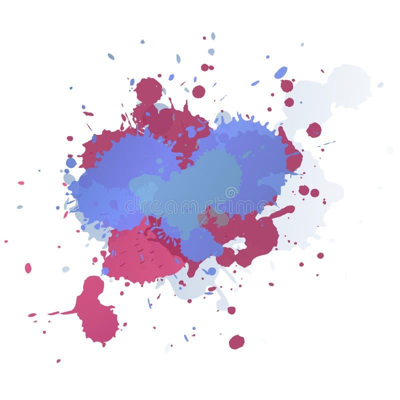 Ambiti di provenienza di vettore dell'estratto della pittura di spruzzo, linee gocciolamenti illustrazione vettoriale