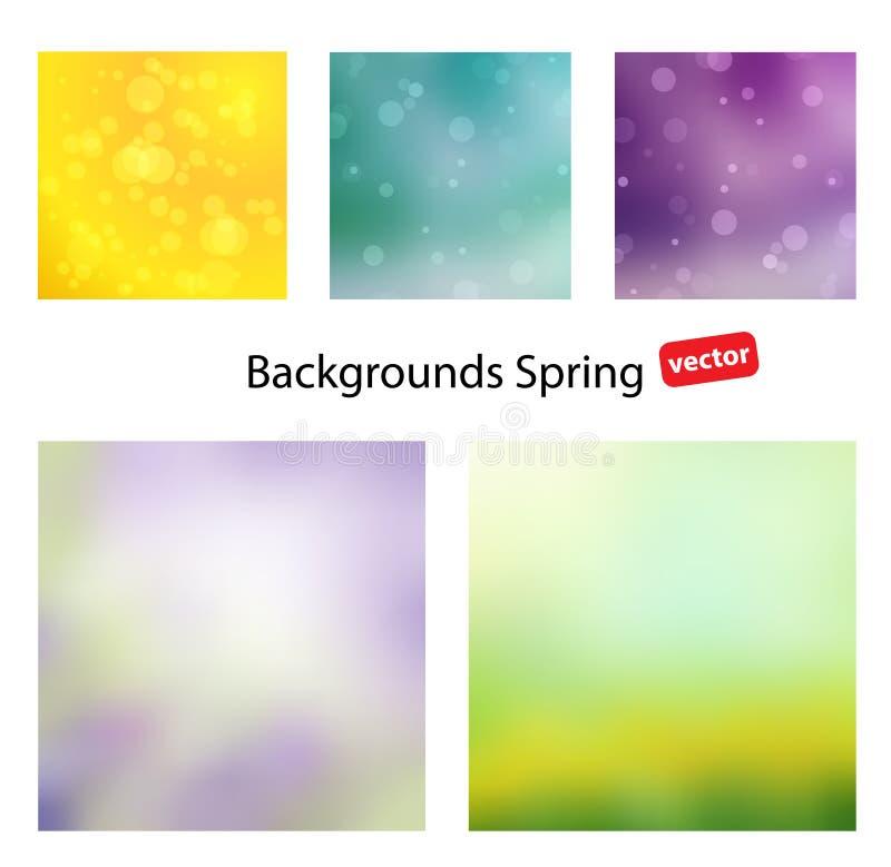 Ambiti di provenienza di vettore della primavera illustrazione vettoriale