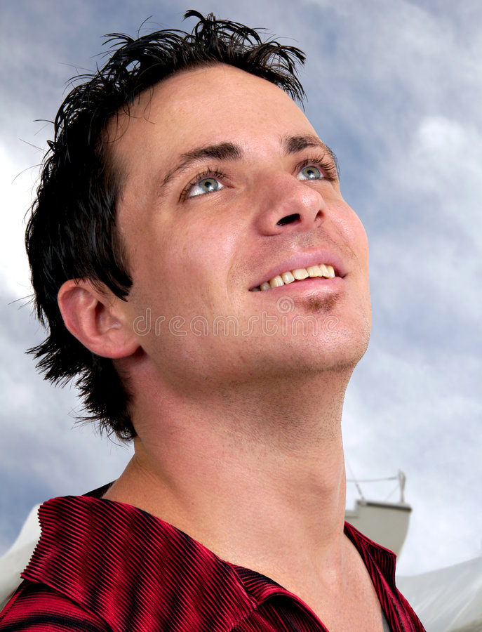 Download Ambition stock photo. Image of handsome, goals, clouds - 1652694