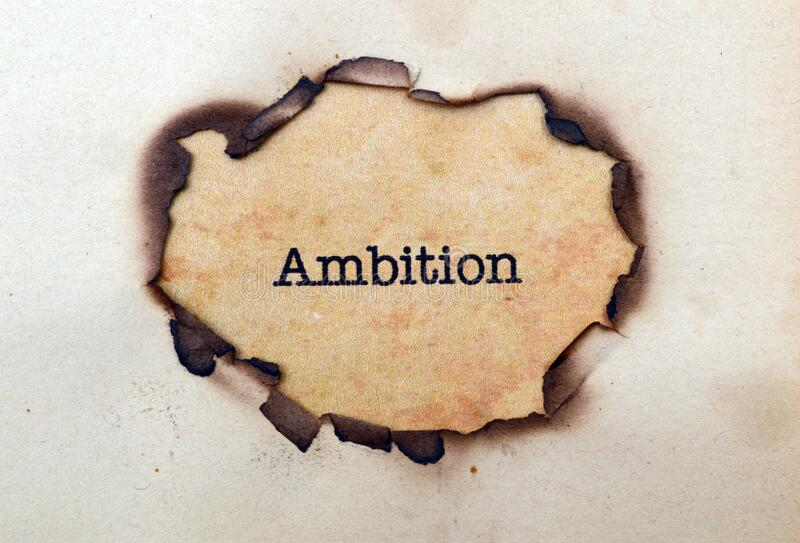 Ambition. A Close up of Ambition royalty free stock images