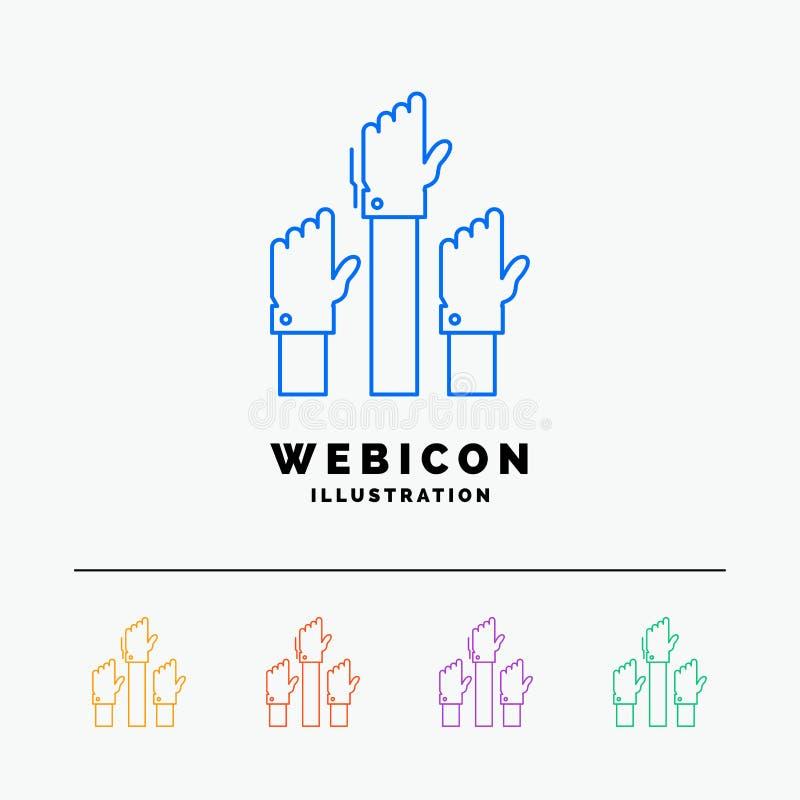 Ambition affär, lust, anställd, färglinje rengöringsduksymbolsmall som för avsikt 5 isoleras på vit ocks? vektor f?r coreldrawill vektor illustrationer