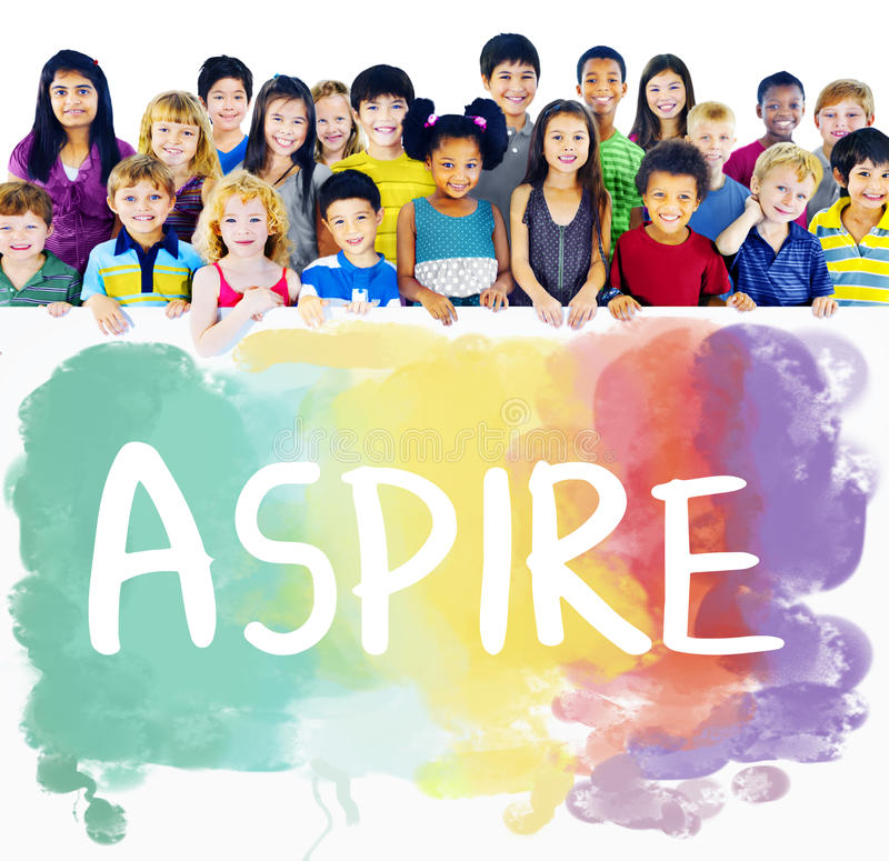 Ambition Aim Aspire Goals Motivation Aspirations Concept stock photos