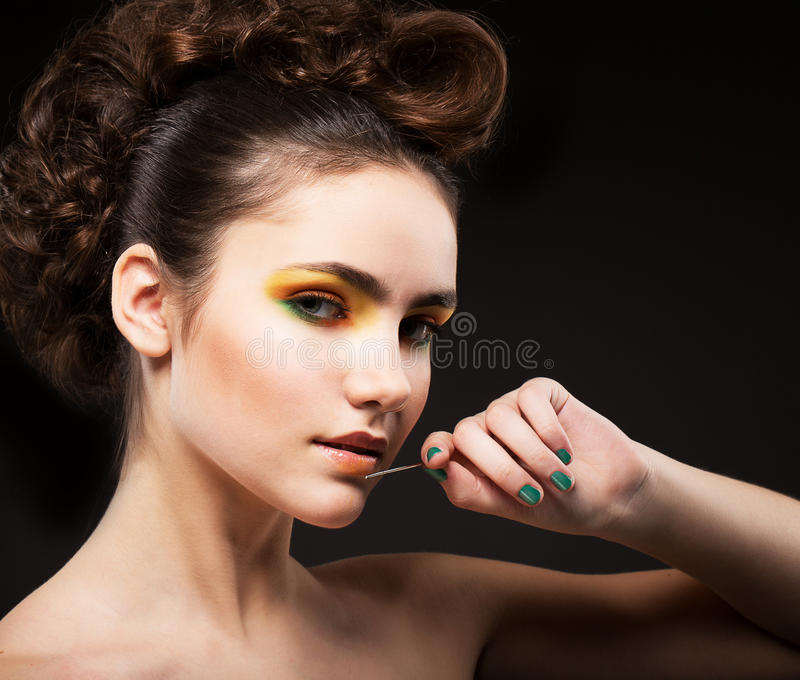 Download Ambition. Glamor. Sophisticated Lady Fashion Model With Needle Stock Photo - Image: 29402160