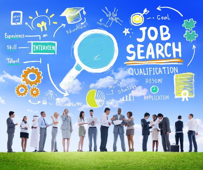 Ambition Job Search Concept för diskussion för affärsfolk arkivfoton