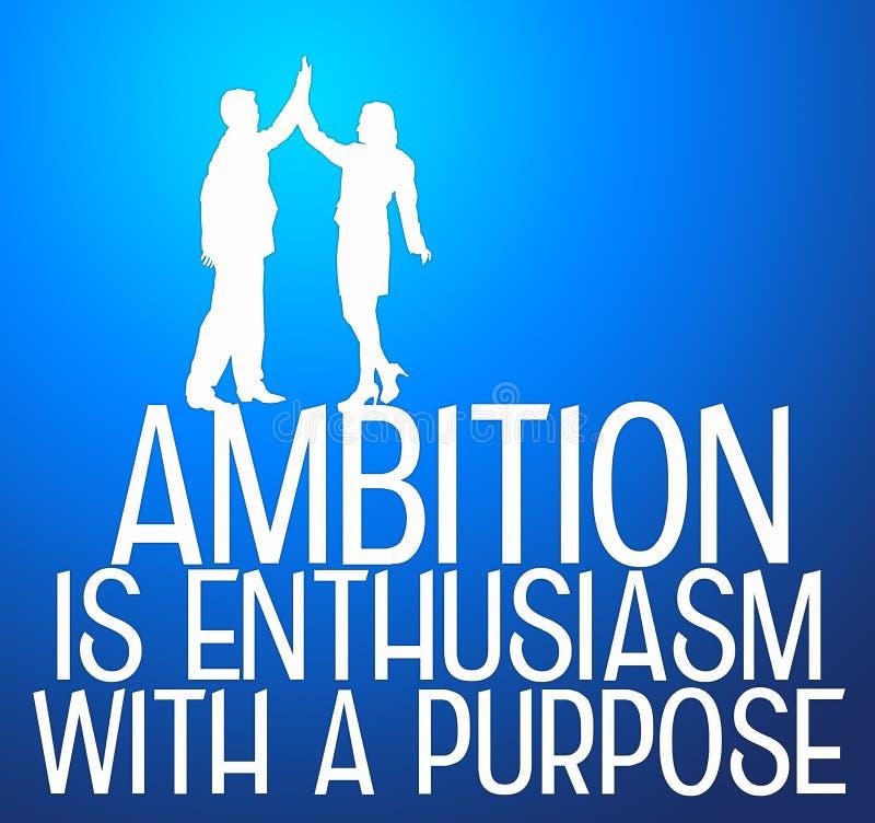 Ambition och avsikt stock illustrationer