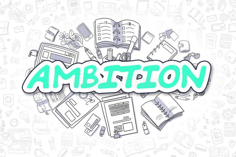 Ambition - vert Word de bande dessinée Concept d'affaires illustration de vecteur