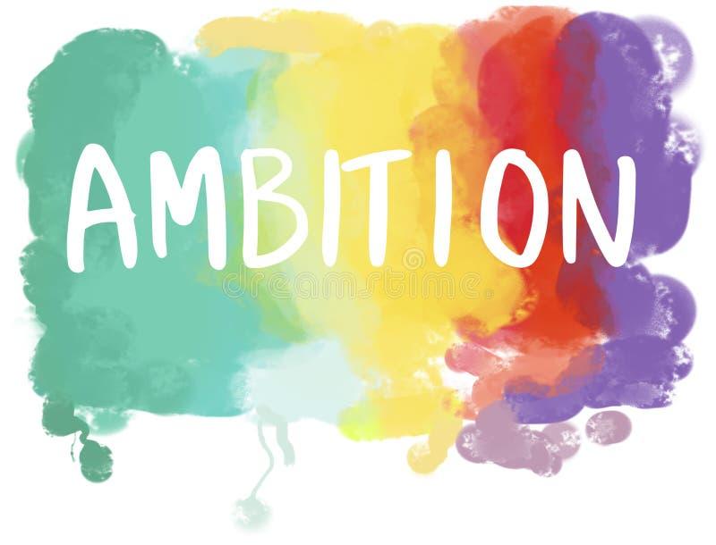 Ambitioner Desire Dream Ambition Goals Concept vektor illustrationer