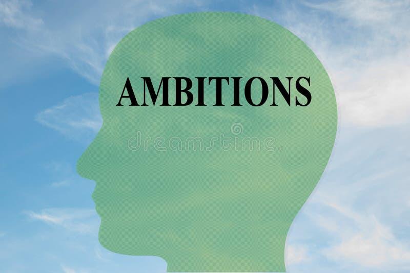 AMBITIONS - concept mental illustration de vecteur