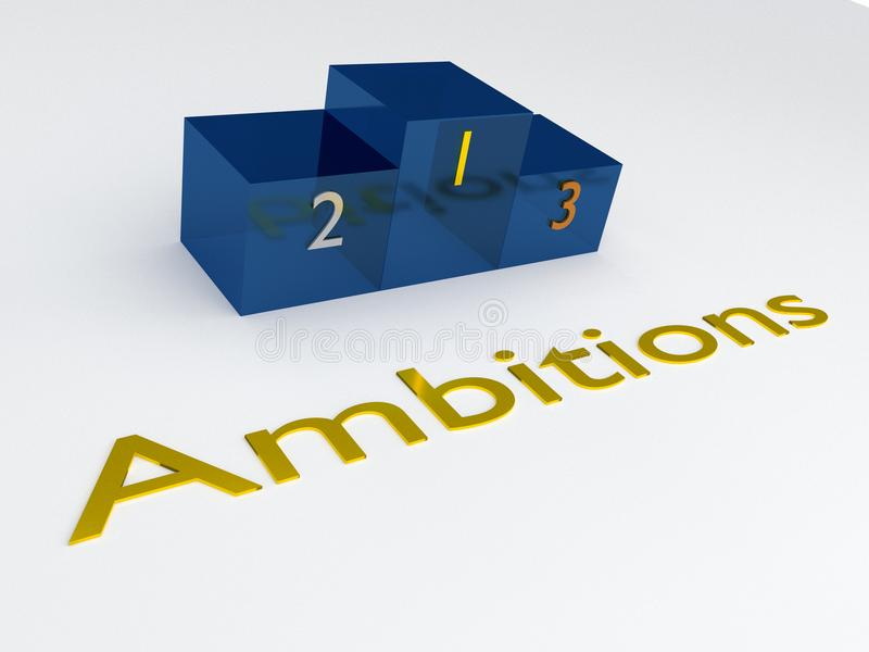 AMBITIONS - concept mental illustration stock