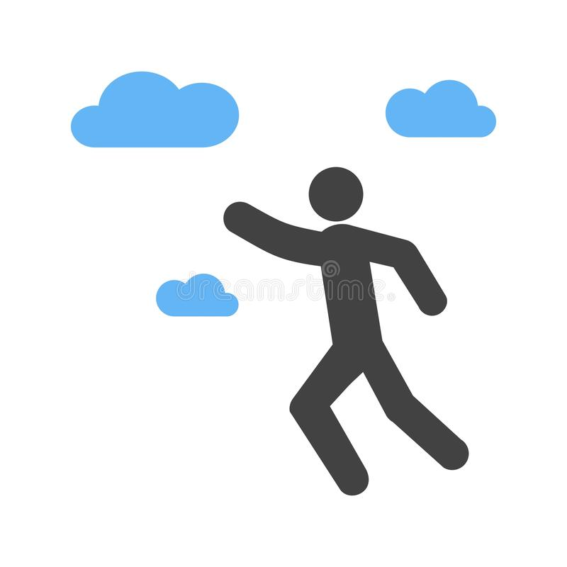 Ambitious. Professional, work icon vector image. Can also be used for Personality Traits. Suitable for web apps, mobile apps and print media royalty free illustration
