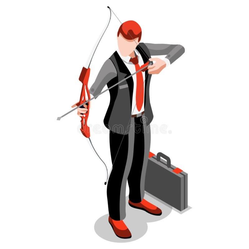 Ambitious business change Job Ambitions vector concept. Business concept infographic vector design. Businessperson 3D character flat ambitious man. Job ambition vector illustration