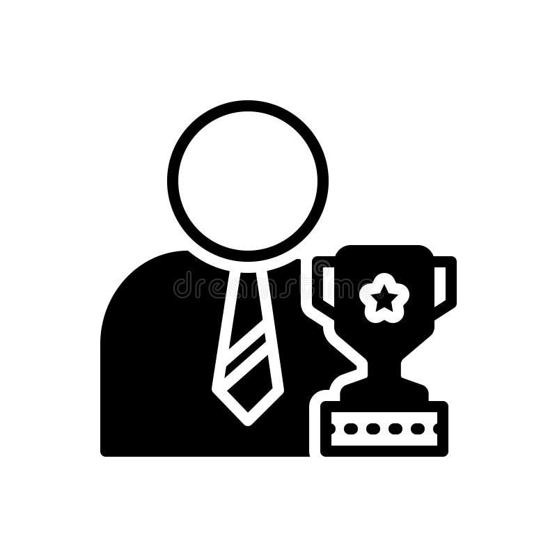Black solid icon for Ambitious, wishful, desirous. Black solid icon for Ambitious, intending, symbol, wishful, desirous stock illustration