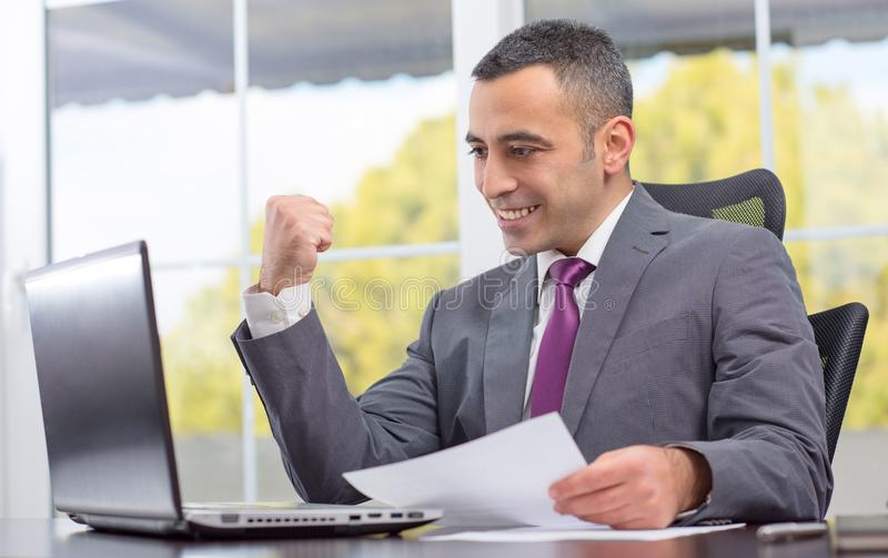 Ambitious Young Businessman Succeeded royalty free stock photo
