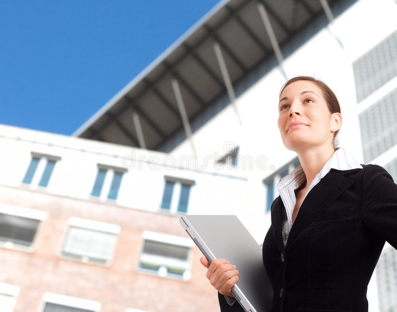 Download Ambitious Young Businesswoman Stock Image - Image of executive, caucasian: 4033863