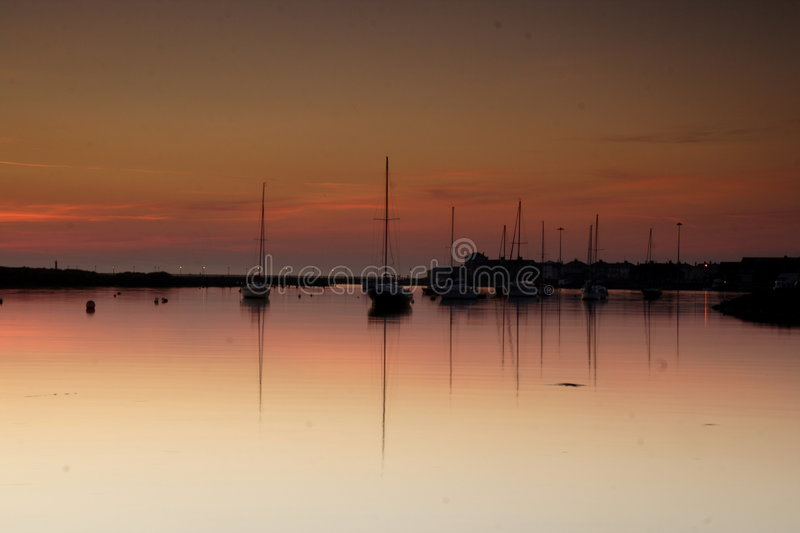 Download Amble Harbour At Dawn Royalty Free Stock Photography - Image: 2214517
