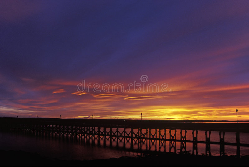 Download Amble Harbour at Sunset stock image. Image of sunset, clouds - 2445665