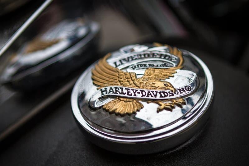 Amblem di Harley-Davidson fotografie stock