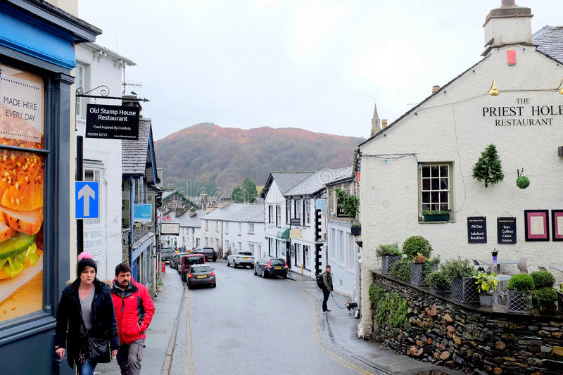 Ambleside Cumbria royaltyfria bilder