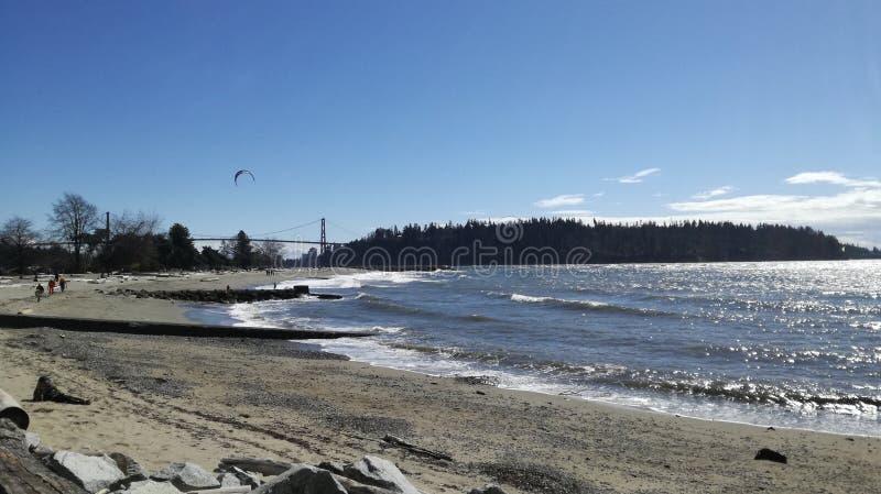 Ambleside plaży północ Vancouver obrazy stock