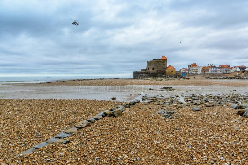 Ambleteuse, οχυρό Mahon, Nord Pas-$l*de-$l*Calais, Γαλλία στοκ φωτογραφία με δικαίωμα ελεύθερης χρήσης