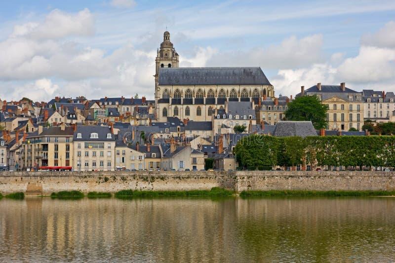 Amboise är en älskvärd stad i Frankrike arkivbilder