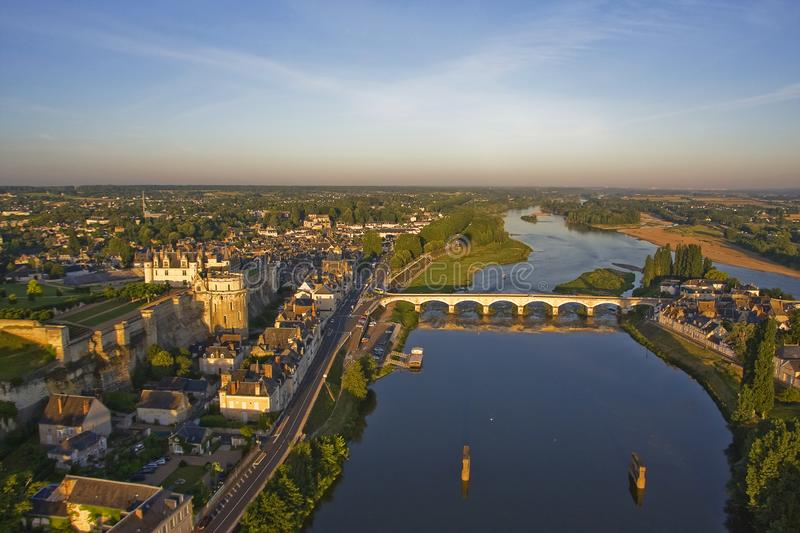 Amboise - Aerial View stock images