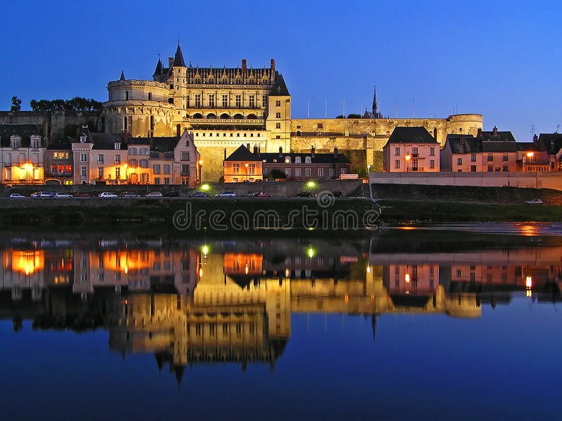 Download Amboise castle stock photo. Image of night, fortress, renaissance - 2579010