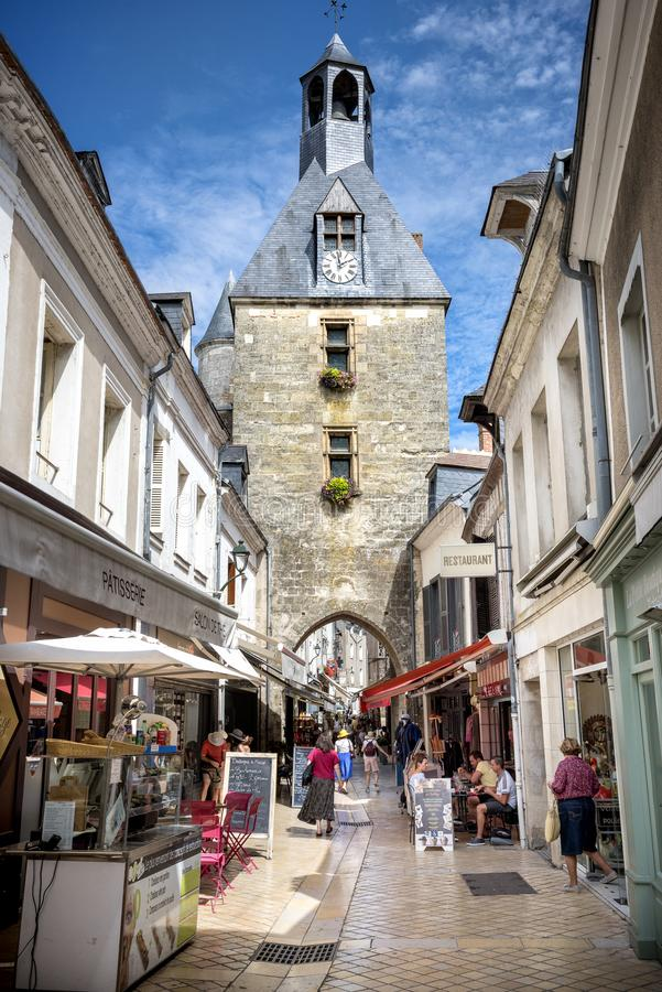 Amboise, Loire Valley. The town is known for the castle of the same name. France royalty free stock image