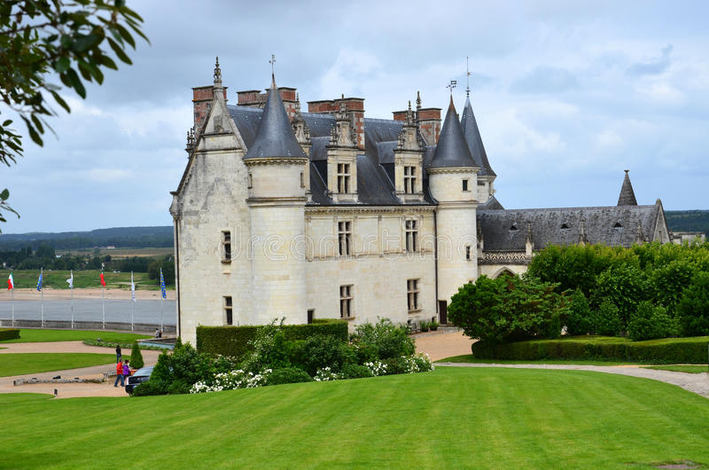 Amboise slott arkivfoto