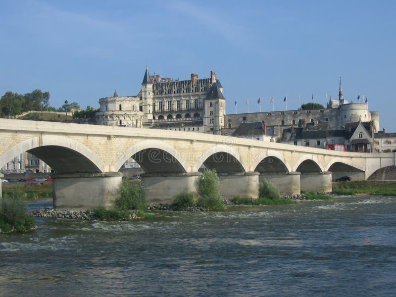 amboise zamku Loire valley obraz stock