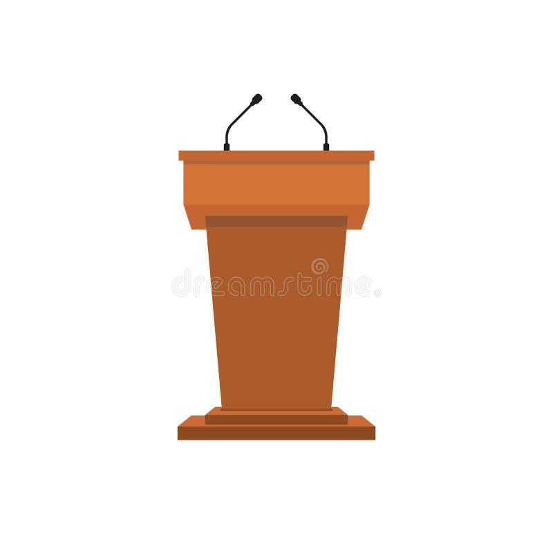 Ambony podium royalty ilustracja
