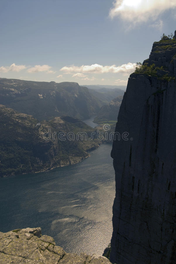 Ambony skała w Lysefjorden fotografia royalty free