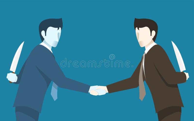 Ambos o homem de negócios Betray entre si ilustração do vetor