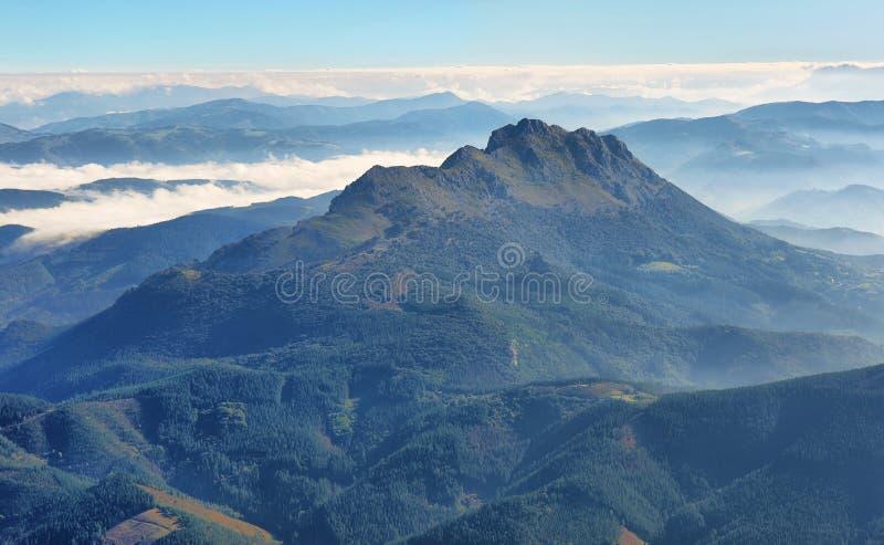 Amboto, Urkiola, Баскония Природный парк стоковая фотография