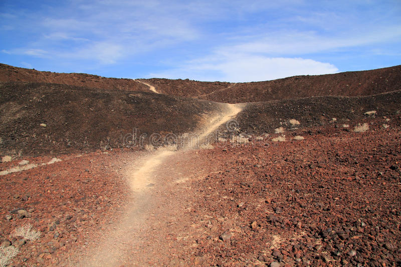Amboy火山口远足 免版税库存图片
