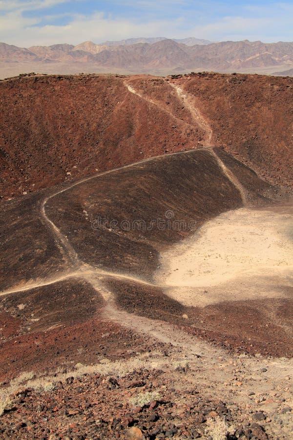 Amboy火山口远足 免版税库存照片