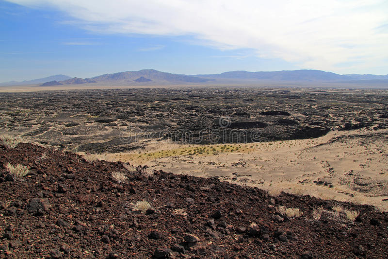Amboy火山口远足 免版税图库摄影