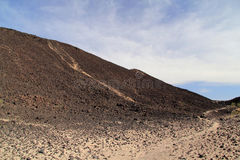 Amboy Crater Hiking royalty free stock photography