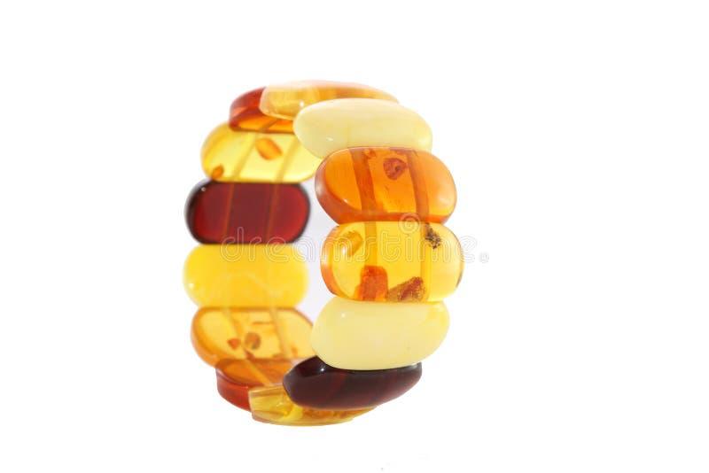 Ambra del braccialetto fotografia stock libera da diritti