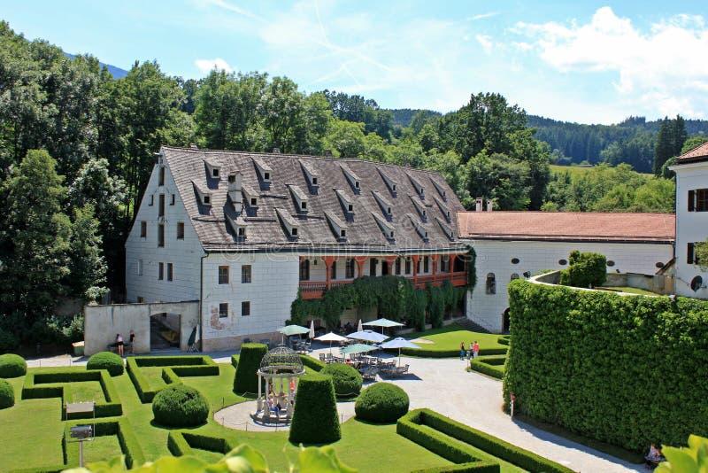 Ambras城堡-因斯布鲁克-庭院 库存图片