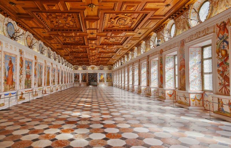 Ambras -因斯布鲁克奥地利宫殿 免版税图库摄影