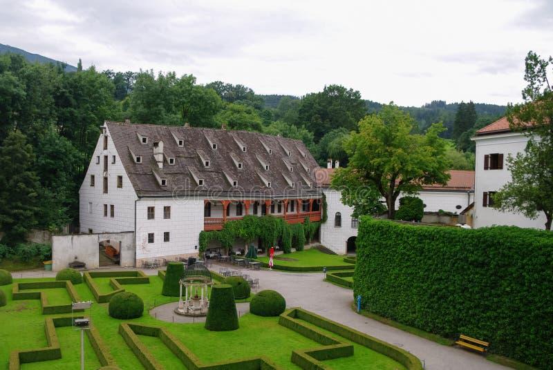 Ambras slott Schloss Ambras per sextonde århundrade c för renässans arkivfoto